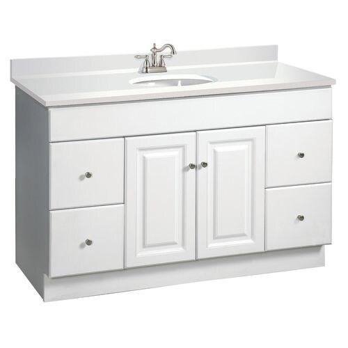 Freestanding Single Sink Bathroom Vanity Base