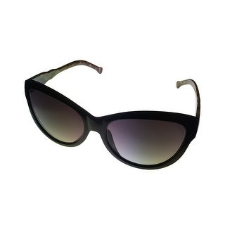 Kenneth Cole Reaction Womens Sunglass Black Plastic Cat, Gradient Lens KC1212 1B - Medium