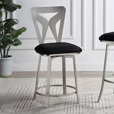 Furniture of America Vippot Contemporary Padded Barstools (Set of 2)