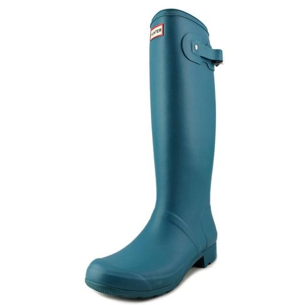 Hunter Original Tour Women Round Toe Synthetic Blue Rain Boot