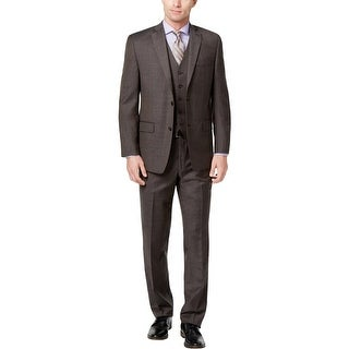 Michael Kors Mens Two-Button Suit Wool Classic Fit