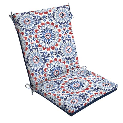 Arden Selections Clark Reversible Outdoor Chair Cushion - 44 in L x 20 in W x 3.5 in H