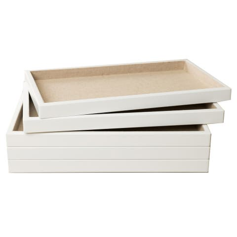 Hives & Honey White 5-piece Stackable Tray