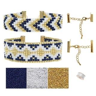 Refill - Loom Bracelet Duo - Melville Blue - Exclusive Beadaholique Jewelry Kit