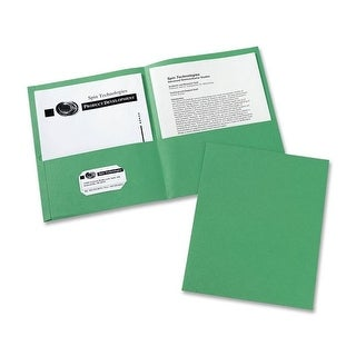 Avery AVE47987CT Two-Pocket Folders Letter Sheet, Green