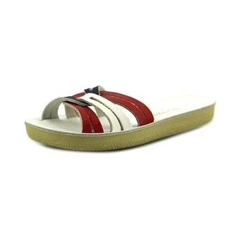 Sun-San Saltwater Slide Toddler Open Toe Leather White Slides Sandal