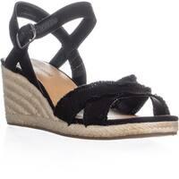 Lucky Brand Margaline Espadrille Wedge Sandals, Black