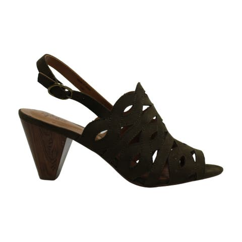 Style & Co. Womens Henleyy Slingback Sandals Suede Peep Toe SlingBack D-orsay Pumps