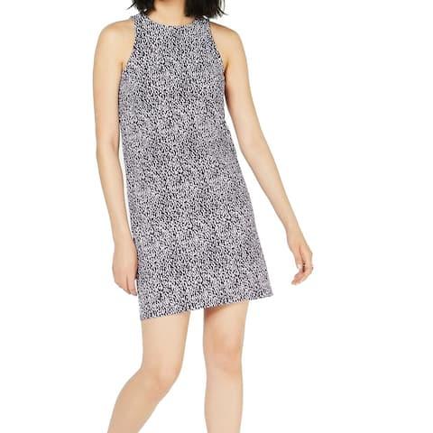 Michael Kors Women's Dress Purple Size XXL Plus Sheath Ikat Print