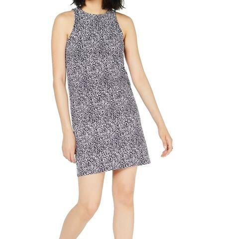 Michael Kors Womens Dress Lavender Purple Size XL Shift Ikat Knit Tank