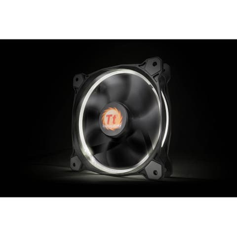 Thermaltake Riing 14 140mm White LED Ring Case/Radiator Fan CL-F039-PL14WT-A