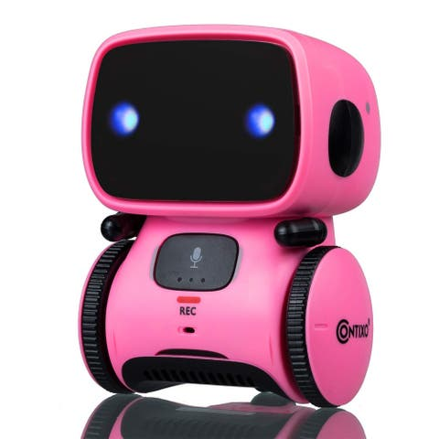 Contixo R1 Voice Controlled Kids Toy Robot, Interactive Talking Touch Sensor Dancing Speech Recognition for Children (Pink)