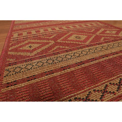 """Flatweave Area Rug Machine Made Polypropylene Transitional Open end remnant (2'3""""x26') - 2'3"""" x 26'"""