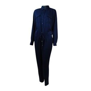Lauren Ralph Lauren Women's Multi-Pocket Drawstring Jumpsuit - Blue