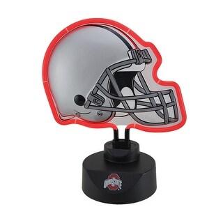 NCAA OSU Ohio State Neon Football Helmet Lamp - Multicolored