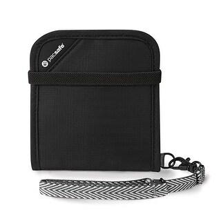 Pacsafe RFIDsafe V100-Black RFID Blocking Bi-fold Wallet