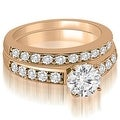 1.40 cttw. 14K Rose Gold Round Cut Diamond Bridal Set - Thumbnail 0