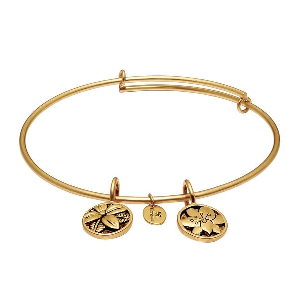 Chrysalis 'Blossom' Expandable Bangle in 14K Gold-Plated Brass - YELLOW