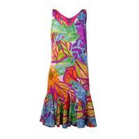 Lauren Ralph Lauren Women's Pleated Trim Floral Print Dress - Multi