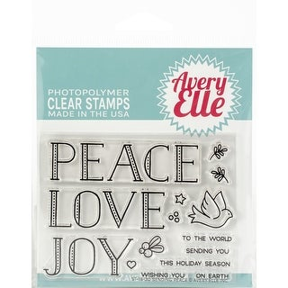"""Avery Elle Clear Stamp Set 4""""X3""""-Sending Peace"""