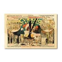 Cyrano de Bergerac (Meticet) Vintage Ad (Acrylic Wall Clock) - acrylic wall clock
