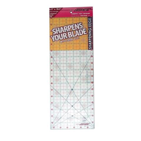 "Sullivans Cutting Edge Clear Sharpening Edge Ruler 6-1/2in x 18-1/2in - 2"" x 7"" x 19"""