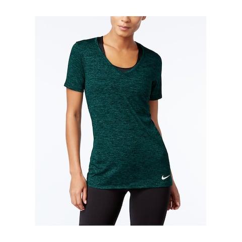 Nike Women's Legend Dri-FIT Short Sleeve Training Tee, Teal, S