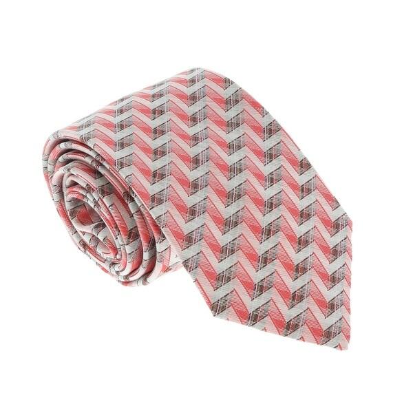 Missoni U4706 Pink/Silver Chevron 100% Silk Tie - 60-3