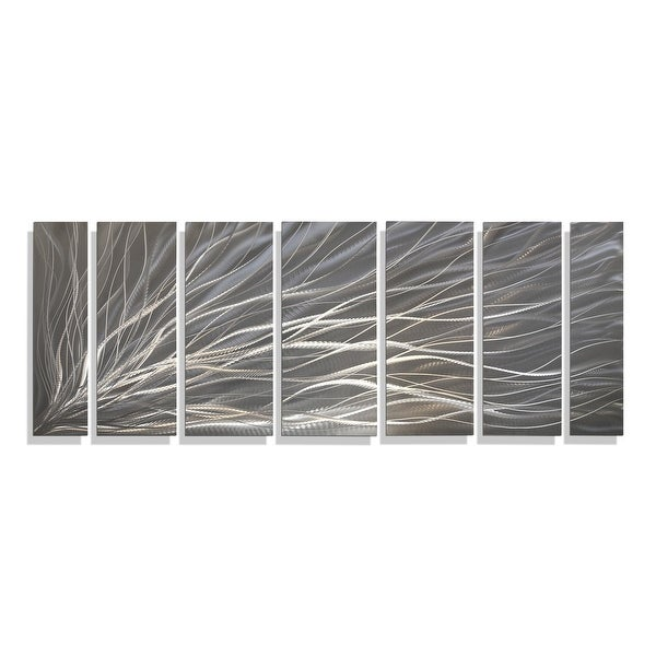 Statements2000 3D Metal Wall Art Panels Modern Silver Hanging Decor by Jon Allen