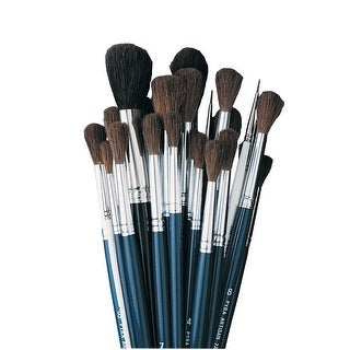 Jack Richeson Spotter Camel Hair Watercolor Paint Brush, Pack of 36