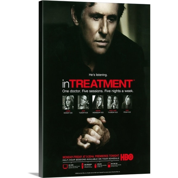Solid-Faced Canvas Print entitled In Treatment (2008) - TV Poster