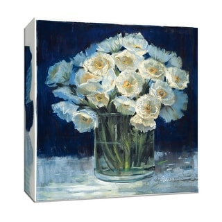 """PTM Images 9-153342  PTM Canvas Collection 12"""" x 12"""" - """"Spring Twilight I"""" Giclee Flowers Art Print on Canvas"""
