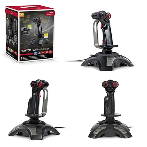Speedlink Black Phantom Hawk Flight Stick for PC Video Games