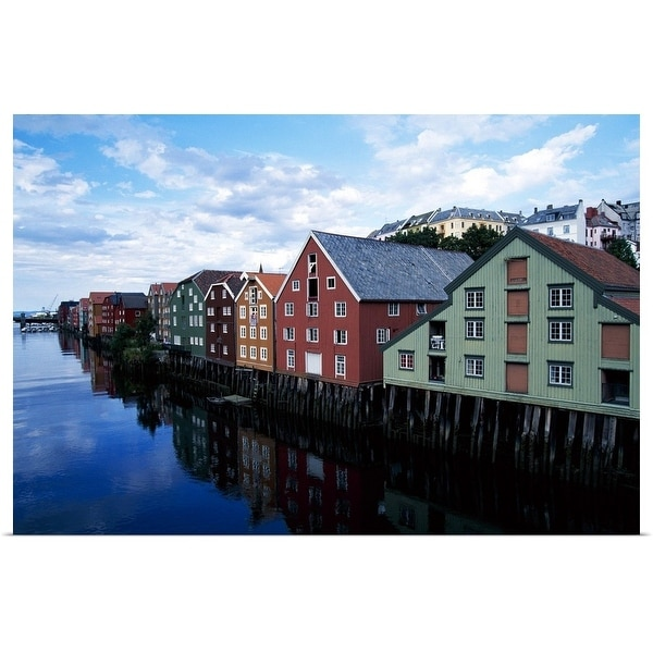 """""""The Whaves, Trondheim, Norway"""" Poster Print"""
