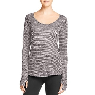 Onzie Womens Casual Top Textured Keyhole - o/s