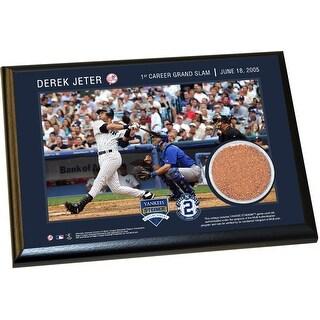 Derek Jeter Moments 1st Grand Slam 4x6 Dirt Plaque