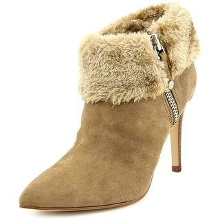 Marc Fisher Cahoot Women Pointed Toe Suede Tan Ankle Boot