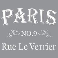 "Parisian Street - Americana Decor Stencil 12""X12"""