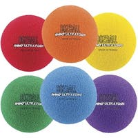 Champion Sports Rhino Foam No-Bounce Balls, Set of 6