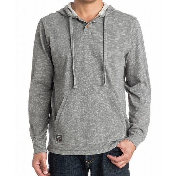 83b67d60dc4 Shop Quiksilver NEW Gray Mens Size 2XL Pullover Sweater Waterman Hoodie -  Free Shipping On Orders Over  45 - Overstock - 18060419