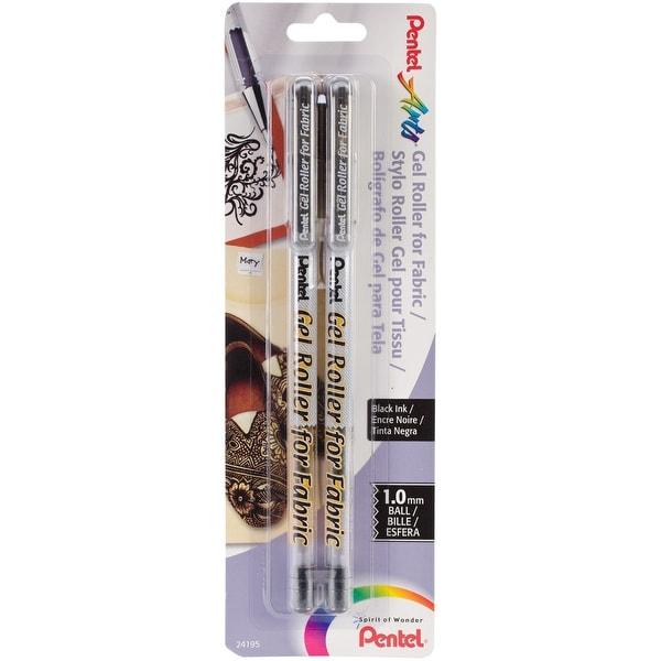 Gel Roller Fabric Pens 1mm 2/Pkg-Black - Black
