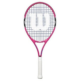 Wilson Girls Burn Pink 25 Racket, Pink/Black, 3.875
