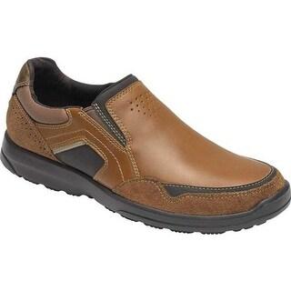 Rockport Men's Welker Casual Slip On Tan Leather