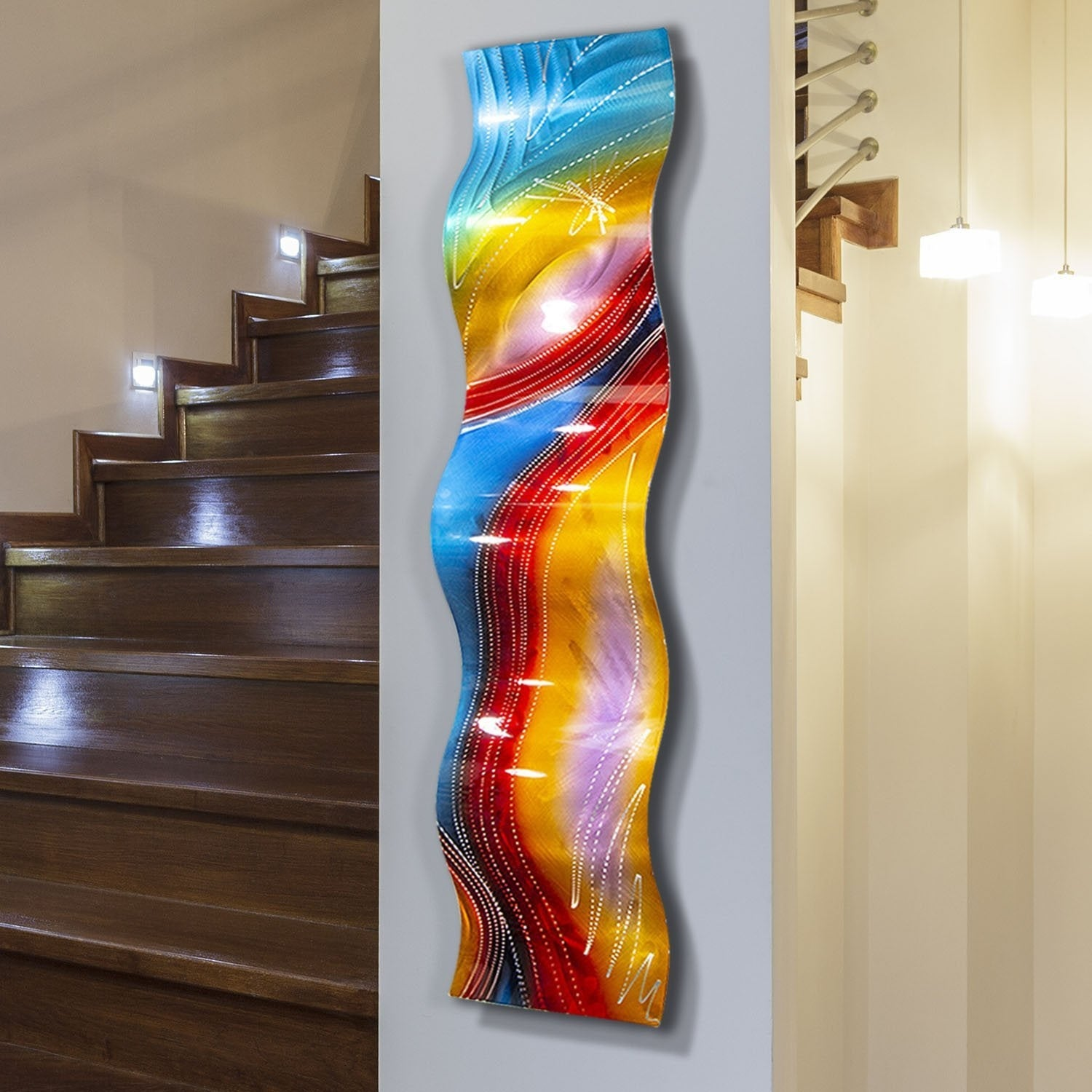 Shop Statements2000 Rainbow Abstract Metal Wall Art Accent ...