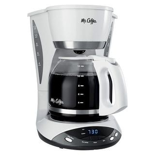 Mr. Coffee Simple Brew 12-Cup Programmable Coffee Maker, White - 12 Cups