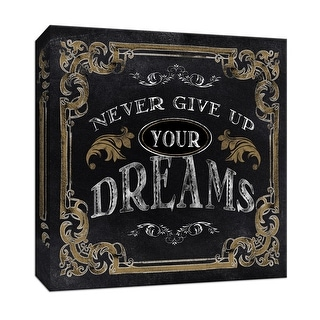 "PTM Images 9-146677  PTM Canvas Collection 12"" x 12"" - ""Dreams"" Giclee Sayings & Quotes Art Print on Canvas"