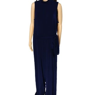 Lauren Ralph Lauren NEW Blue Women's Size Large L Turtleneck Jumpsuit