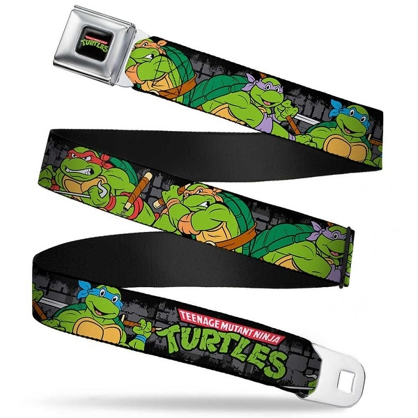 Classic Teenage Mutant Ninja Turtles Logo Full Color Classic Teenage Mutant Seatbelt Belt