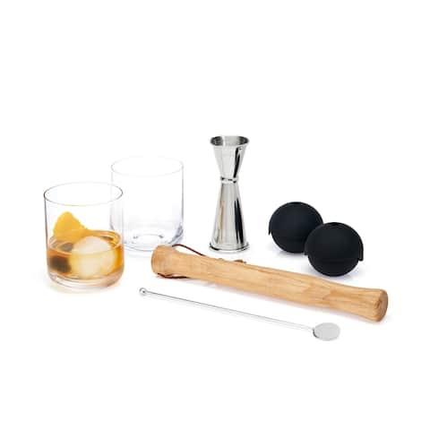 "7 Piece Muddled Cocktail Set by Viski - 3.75"" x 3.15"""