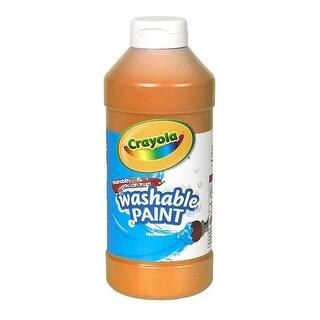 Crayola BIN201636BN 6 Each 16 oz Crayola Washable Paint, Orange